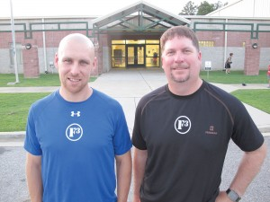 Daniel Hayes and Craig Rummel outside the Blythewood Recreation Center on Boney Road. Saturday, they launch the Blythewood chapter of F3 Nation, a free workout and fellowship program for men.