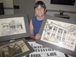 Pelham Lyles, Director of the Fairfield County Museum, displays some of her artwork. She will be doing live sketching during this year's Ag+Art Tour.
