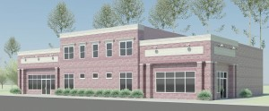 An architect's rendition of a proposed new medical office at 121 Blythewood Road.