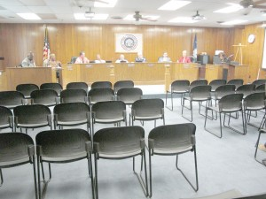 And then there were none – Council holds forth in an empty chamber Monday after the Chairwoman cleared the room.