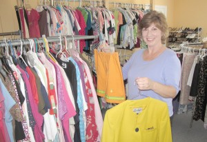 Kim Kacsur operates Tricia's Trunk, a clothing ministry located at Sandy Level Baptist Church in Blythewood.