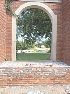Repairs have been made to Ridgeway's iconic arch, but money to complete the project is getting hard to come by. (Photo/Courtesy Heath Cookendorfer)
