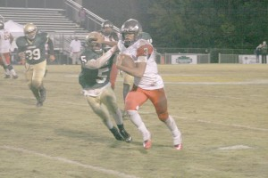 Jalen Smith (3) chews up the yards at Conway Friday. (Photo/Robert Anderson)