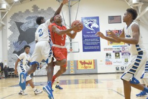 Westwood's Xavier Dobey goes to the basket in Saturday's Bojangles Bash. (Photo/Kristy Kimball Massey)