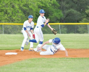 John Coleman breaks up the double play with a hard slide into second. (Photo/DeAnna Robinson)