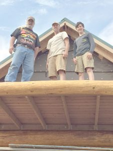 Family and friends who travelled to Alaska to work on the cabin this summer included Tommy Sanders (Adolf's nephew), T. Cox (Adolf's granddaughter's father-in-law and Davis Weitzel (Adolf's grandson).