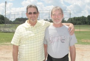 Brothers Chuck and Steve Raley will be honored on Sept. 22 for their 40 years of coaching youth at Drawdy Park.