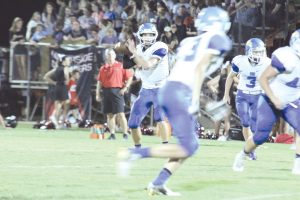 RWA quarterback Mitchell Gibbons stands and delivers. (Photo/Martha Ladd)