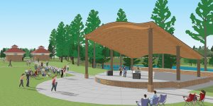 Artist's rendering of the proposed amphitheater at Doko Meadows Park.