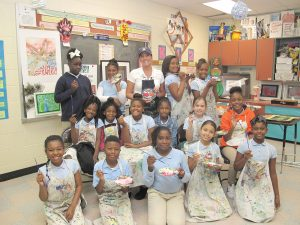 Art Smarts – Kimi B. Daly (back row, center), Art teacher at Fairfield Magnet School for Math and Science, and her students: Makayla Mann, Gianna Rhodes, Kimi Daly, Reniya Lyles, Tiauna Turner, Sharmelle Holmes, Caniya Brown, Paige English, Tavetria Amponsah, Layla Metts, Senai Greene, Trinity Skye, Tyus Armstrong, Skyla Hart, Alexia Hernandez and Jazzalyn McConnell. The Magnet School recently received the highest scores in the state in both Art and Music. (Photo/Stephanie Boswell)