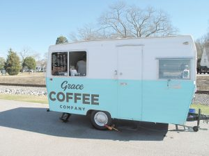 Grace Coffee Company on Main Street in Blythewood. The mobile vendor has recently found itself in the eye of the storm revolving around Town Council's debate on new regulations. (Photo/James Denton)