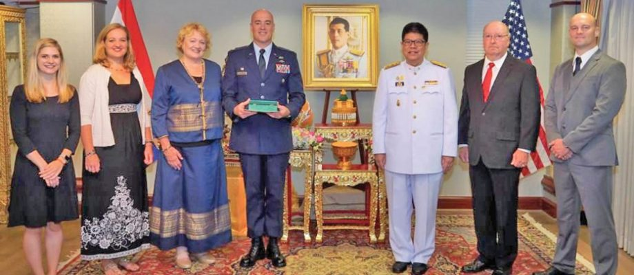 Lt. Col. Charles Hodges of Blair honored by King of Thailand