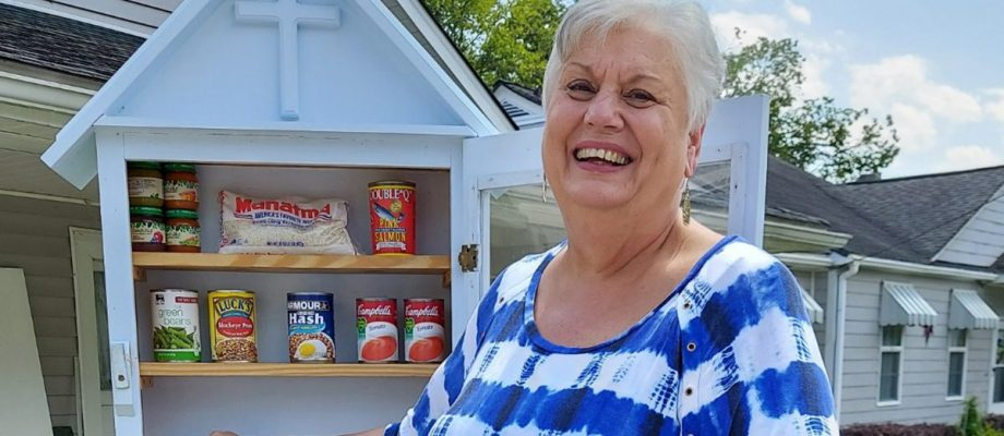 Blessings given and received in pantry boxes
